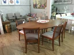 Título do anúncio: Mesa de jantar oval Herval para 08 cadeiras