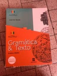 Livro didático gramática e texto projeto múltiplo