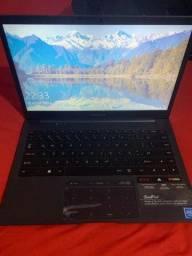 Notebook Novo (Positivo Motion Atual 7 GRD) com carregador original na caixa.