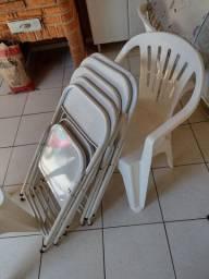 Cadeiras dobráveis de aço desapego