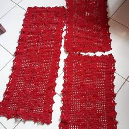 Jogo de cozinha 3 peças em crochê