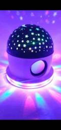 Abajur Luminária céu estrelado com Bluetooth