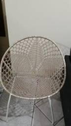 Título do anúncio: Cadeira oval em metal revestido de fibra para varanda