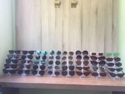 Lote Óculos de Sol + Expositores Leia a Descrição.