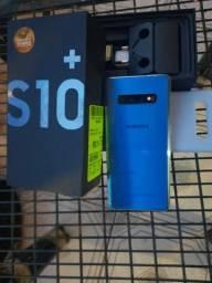 Samsun Galaxy S10+ Plus na caixa.