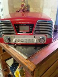 Toca disco cd e mp3 radio vendo