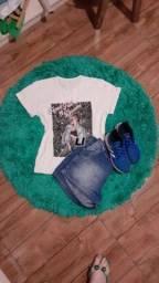 Título do anúncio: Kit 5 camisetas femininas G