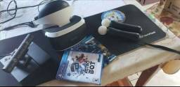 PlayStation VR (psvr) + 2 PSMoves + 3 JOGOS