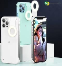Título do anúncio: Capa com Ring Light Integrado para o iPhone 12, 12 Pro e 12 Pro Max