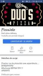 Contrato pizzaiolo com experiência