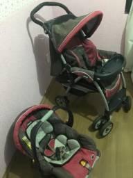Carrinho e Bebê conforto Chicco