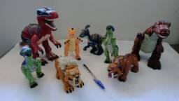 Kit De Dinossauros Articulados + Tigres De Dentes De Sabre, ideal para festas infantis