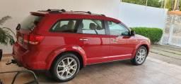 Dodge journey rt 7 lugares unica no mt exclusividade vermelho perola interior bege - 2012
