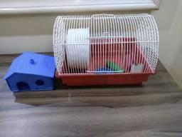 Gaiola para Hamster com Rodinha + Casinha + 3 Brinquedos