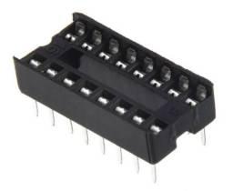 COD-CP140 Kit 4 Unidades Adaptador Soquete Dip 16 Pinos Arduino Automação Robotica