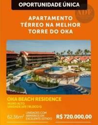 Oka Beach Residence - Apartamento térreo 2 quartos - Praia de Muro Alto