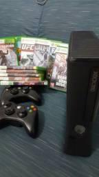 Xbox 360 desbloqueado 2 controles + 27 Jogos