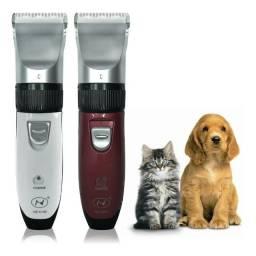 Título do anúncio: Máquina P/ Tosar Cortar Pelo Caes Animais Cachorro Sem Fio