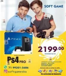 Título do anúncio: PS4 Pro 1TB aceito cartão com garantia loja física