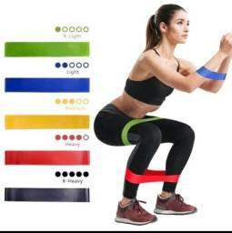 Título do anúncio: 5 Elástico para Treino Exercício em Casa Yoga Pilates