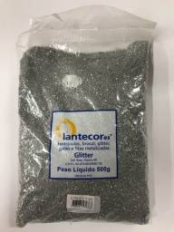Glitter Prata Metalizado PVC 500g