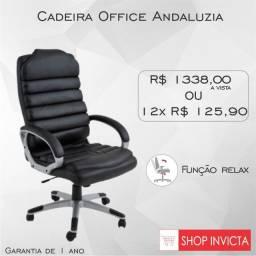 Cadeira Giratória Office Andaluzia / Revestimento PU / Nova / NFE