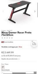 Mesa gamer racer preta