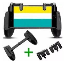 Suporte Gamepad + gatilhos celular freefire fortnite pugb
