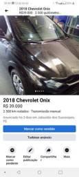 Título do anúncio: Onix preto único dono 25 km rodados