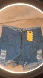 Short jeans cintura alta tamanho 40
