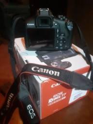 Câmera Canon EOS Rebel T7, Kit com Lente 18-55, case, card de memória