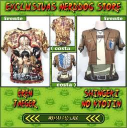 Camisas Exclusivas NerdDog Store (Naruto, Dragon Ball, One Piece, etc)