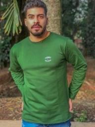 Título do anúncio: Blusa de Moletim Verde G