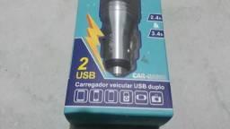 Carregador Veicular USB Duplo 2.4A & 3.4A