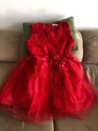 Vestido vermelho princesa nunca usado