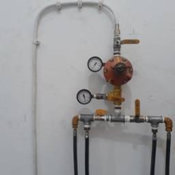 Cavalete para central de gás  45P Com 2 manômetros