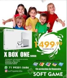 Título do anúncio: Xbox One s 500GB aceito cartão com garantia loja física