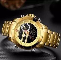 Relógio Naviforce Luxury Men, Analógico e Digital