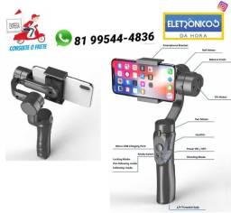 3-axis Handheld Smartphone Gimbal Estabilizador P/ iPhone X e Android so zap