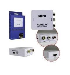 Conversor HDMI p/ RCA/AV - Muito pratico e fácil de encaixar - Na caixa zerado