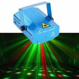 Mini Laser Canhão Luz Led Projetor Holográfico Balada Festa - 7648