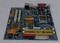 Título do anúncio: Placa mãe gigabyte + processador Intel Celeron 2.66Ghz