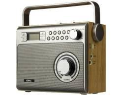 Caixa De Som Retro Portati Vintage Rádio Am Fm Usb Bluetooth