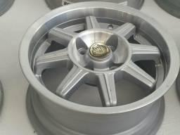 Roda aro 14 IBR Prata diamantada com Borda Taluda GM Corsa 4X100 jogo