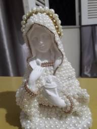 Imagens de varios santos catolicos em gesso