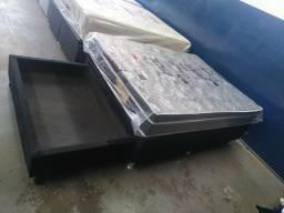 Cama Box casal c/ gaveta só 320,00
