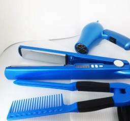 Kit: prancha titanium + mini secador + oente, usado comprar usado  Rio de Janeiro