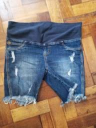 Bermuda jeans gestante