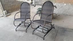 Cadeiras de balanço adulto novas em fibra sintética