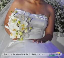 Vestido de noiva branco manequim 38